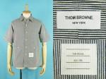 THOM BROWNE トムブラウン 半袖 ストライプ ワークシャツ 買取査定