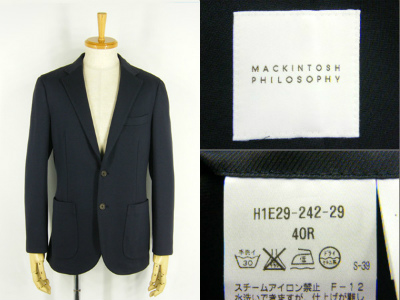MACKINTOSH PHILOSOPHY 売却